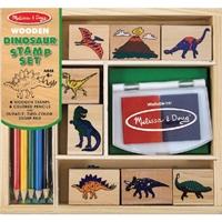 Εικόνα του Σετ ξύλινων σφραγίδων για παιδιά - Δεινόσαυροι