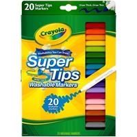 Εικόνα του Πλενόμενοι μαρκαδόροι Crayola Washable Markers -Super Tips Σετ 20τμχ