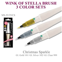 Picture of Zig Wink Of Stella Brush Glitter Marker Set of 3 - Christmas Sparkle