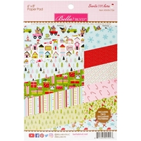 "Picture of Bella Blvd Double-Sided Paper Pad 6""X8""  - Santa Stops Here"