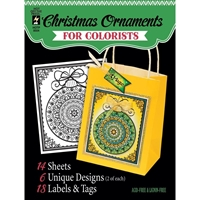 "Εικόνα του Hot Off The Press Coloring Book 5""X6"" - Fancy Christmas"