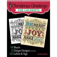 "Εικόνα του Hot Off The Press Coloring Book 5""X6"" - Christmas Greetings"