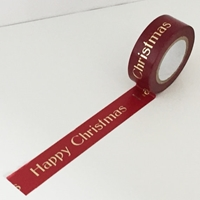 Εικόνα του Dovecraft Christmas Washi Tape - Happy Christmas