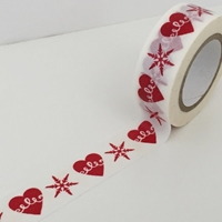 Εικόνα του Dovecraft Christmas Washi Tape - Hearts