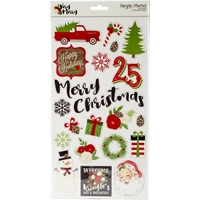 """Picture of Very Merry Chipboard Stickers 6""""X12"""""""