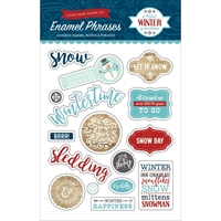 Εικόνα του A Perfect Winter Adhesive Enamel Embellishments - Words & Phrases