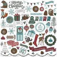 """Picture of Winter Meadow Stickers 12""""X12"""" - Elements"""