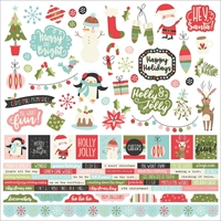 """Picture of Oh What Fun Cardstock Stickers 12""""X12"""" - Combo"""