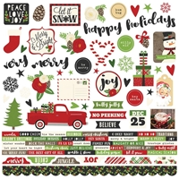 """Picture of Very Merry Cardstock Stickers 12""""X12"""" - Combo"""