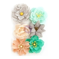 Picture of Prima Zella Teal Flowers - Made with Love