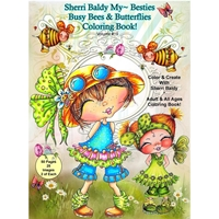 Picture of Sherri Baldy My Besties Coloring Book - Busy Bees & Butterflies