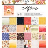"""Εικόνα του American Crafts Single-Sided Paper Pad 12""""X12"""" - Wildflower"""