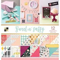 """Picture of DCWV Double-Sided Paper Stack 12""""X12""""  - Sweet & Sassy"""