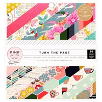 Picture of Pink Paislee Single-Sided Paper Pad 6''X6'' - Turn the Page