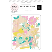 Picture of Pink Paislee Turn The Page Wood Veneer Shapes