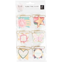 Picture of Pink Paislee Turn The Page Pennant Paper Clips
