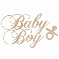 Picture of Wood Flourishes - Baby Boy Words