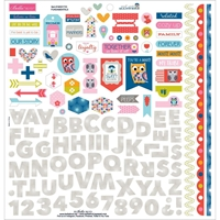 "Εικόνα του Mind Your Manners Cardstock Stickers 12""X12"" - Elements"