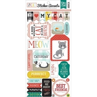 """Picture of Echo Park Paper Cat Stickers 6""""X13"""""""