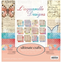 """Picture of Ultimate Crafts Double-Sided Paper Pad 12""""X12"""" - L'Aquarelle"""