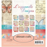 "Εικόνα του Ultimate Crafts Double-Sided Paper Pad 6""X6"" - L'Aquarelle"
