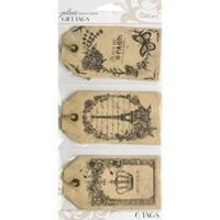 Picture of Parisian Vintage Etching Gift Tags