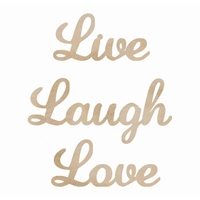 Picture of Wood Flourishes - Live, Laugh, Love Words