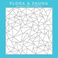 """Εικόνα του Flora & Fauna 6""""X6"""" Stencil - Arctic"""