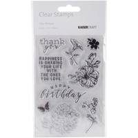 """Picture of Kaisercraft Clear Stamps 6""""X4"""" - Lilac Whisper"""