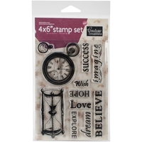 "Picture of Hearts Ease Stamps 4""X6"" - Time Goes On"