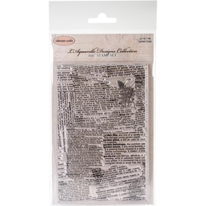 "Picture of Ultimate Crafts L'Aquarelle Background Stamp 4""X6"" - Definitions"
