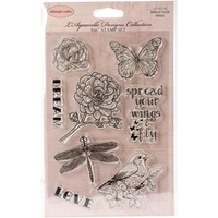 "Picture of Ultimate Crafts L'Aquarelle Stamps 4""X6"" - Spread Your Wings"
