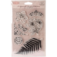 "Picture of Crafts L'Aquarelle Stamps 4""X6"" - Fern, Flowers & Flourishes"