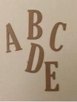 Εικόνα του Chipboard Γράμματα & Νούμερα