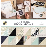 """Picture of DCWV Double-Sided Paper Stack 12""""X12""""  - Letters From Home"""