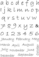 Picture of Clear Stamp  A6 - Alphabet/Months