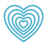 Εικόνα του Μήτρες Κοπής Sweet Dixie Nesting Heart Dies