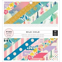 Picture of Pink Paislee Single-Sided Paper Pad 6''X6'' - Wild Child Girl