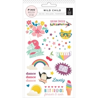 Picture of Pink Paislee Wild Child Rub-Ons - Girl