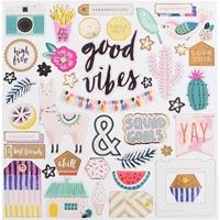 """Εικόνα του Good Vibes Chipboard Stickers 12""""X12"""""""