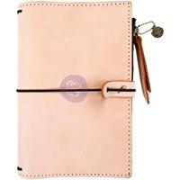 """Εικόνα του Prima Traveler's Journal Leather Personal 5""""X7.25"""" - Peach"""