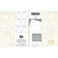 "Εικόνα του American Crafts 2018 Planner 8.5""X11"" - White Chevron"
