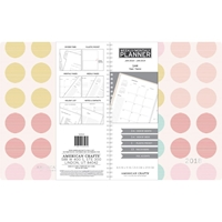 """Picture of American Crafts 2018 Planner 8.5""""X11"""" - Multi-Color Polka Dots"""