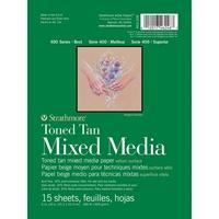 """Εικόνα του Strathmore Toned Mixed Media Paper - Toned Tan 6""""X8"""""""