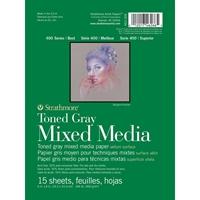 """Εικόνα του Strathmore Toned Mixed Media Paper - Toned Gray 6""""X8"""""""