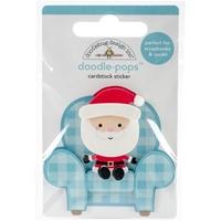 Εικόνα του Doodlebug Doodle-Pops 3D Stickers - Milk & Cookies Santa's Visit