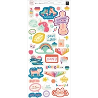 Picture of Pink Paislee Wild Child Cardstock Stickers - Girl