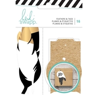 Picture of Heidi Swapp Gift Wrapping Embellishments Kit - Feathers & Tags