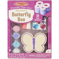 Picture of Decorate Your Own Wooden Chest - Butterfly