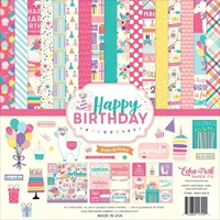 """Picture of Echo Park Collection Kit 12""""X12"""" - Happy Birthday Girl"""